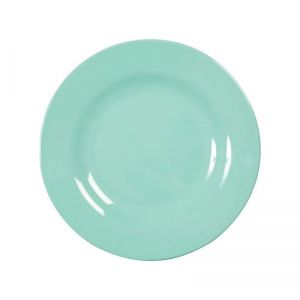 Melamine Round Side Plate in Dark Mint