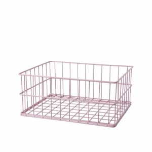 Soft Pink Wire Basket Low Size