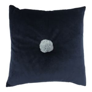 square velvet cushion - navy