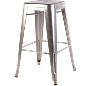 bistro stool - silver