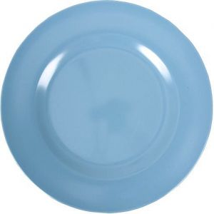 Melamine Round Dinner Plate in Turquoise