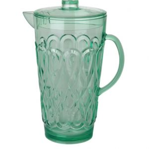 Large Swirly Embossed Jug Acrylic Pastel Green