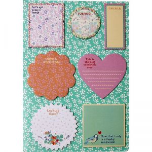 sheet with 147 Sticky Notes for Little Personal Messages