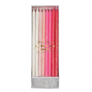 Pink long party candle