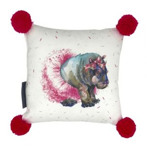 'henrietta' hippo cushion