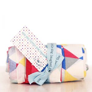crazy triangles muslin - single pack