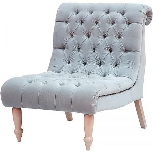 Chair in Soft Grey Velvet