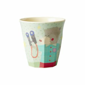 Kids Small Melamine Cup with Boys Happy Camper Print