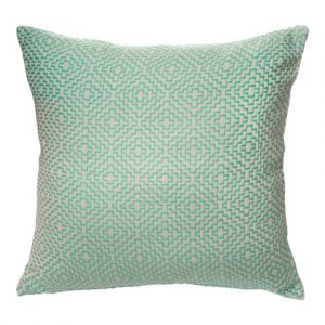 Turquoise patterned cushion