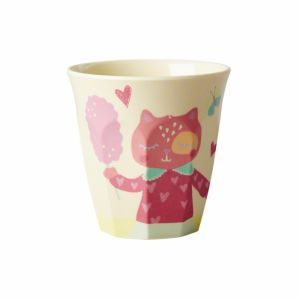 Kids Small Melamine Cup with Girls Happy Camper Print