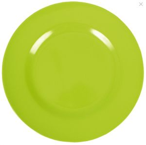 Melamine Round Dinner Plate in Green