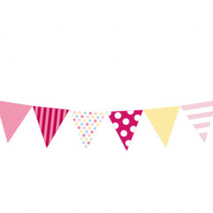 Paper party Flag - Pink