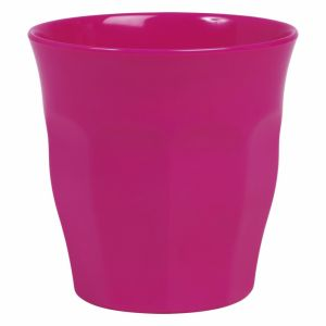 Solid Colored Medium Melamine Cup in Fuchsia