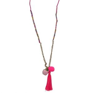 pink apple necklace