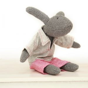 hand knitted rupert rabbit
