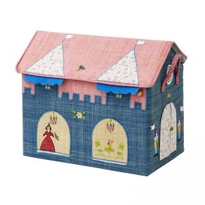 Large Foldable Toy Basket with Princess Castle Theme