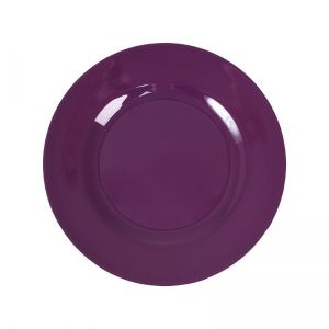Melamine Round Side Plate in Purple