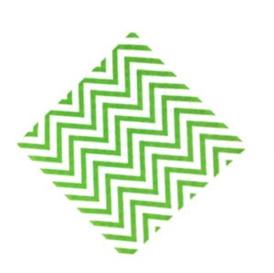 chevron paper napkins - apple green