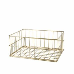 Gold Wire Basket Low Size