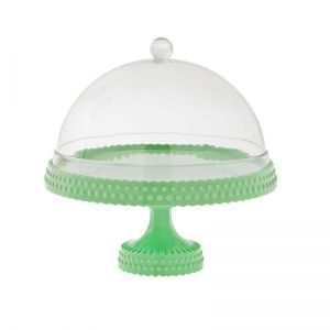 Cake Plate with Dome Pastel Green