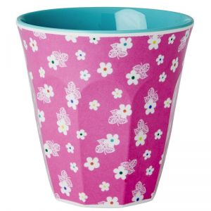 6 Small Melamine Cups in Two Tone with Assorted Chill Prints