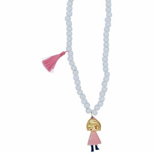 pink sleeping jane necklace