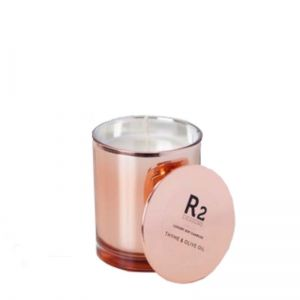 Copper glass candle - Thyme & Olive Leaf