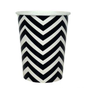 chevron paper cup - black