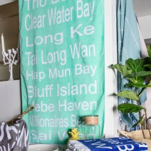 sai kung/clear water bay towel - teal