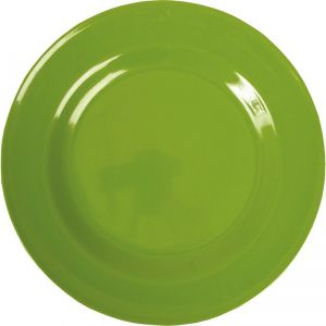 Melamine Round Dinner Plate in Apple Green