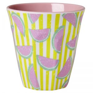 Melamine Medium Cup Two Tone Watermelon Print
