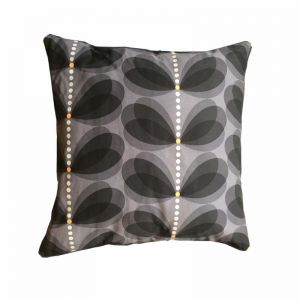 orla kiely cushion -black & grey