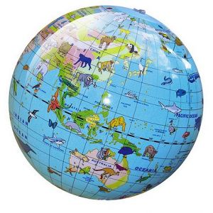 Inflatable World Globe - Animal 30cm