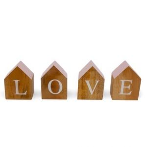 wooden blocks love pink