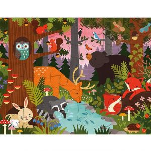 Petit Collage Floor Puzzles- Enchanted Woodland
