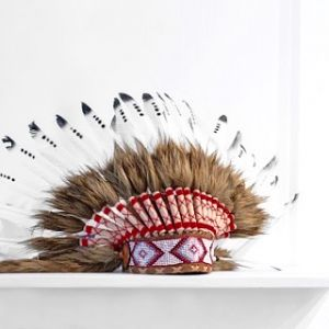 headdress  brown & black