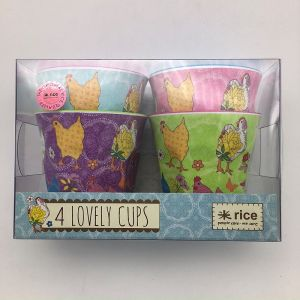 2017 Year of Rooster- 4 Cups Gift Set