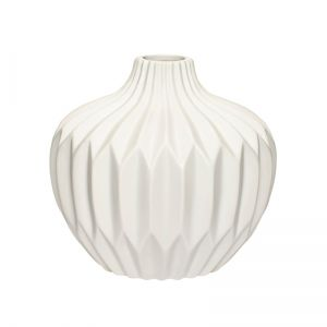 Ceramic White Vase - medium