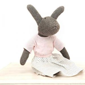 hand knitted matilda rabbit