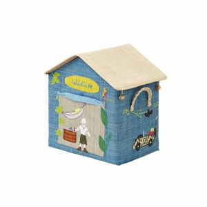 Small Foldable Toy Basket with Wildlife Theme