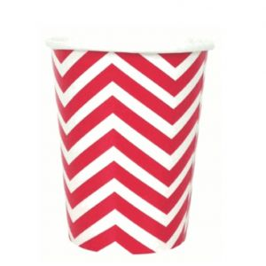 chevron paper cup - red