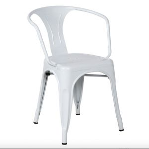 children s metal chair  white