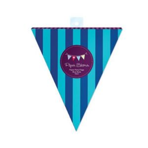 Paper party Flag - blue