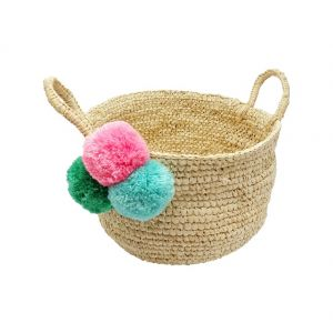 Basket with 3 pompom